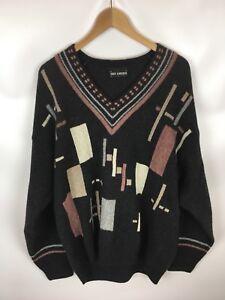 Enzo Lorenzo Pullover, Vintage, Mehrfarbig, Größe 50, Wollmischung Mit Angora Elegante Form