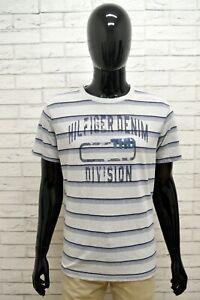 Maglia-TOMMY-HILFIGER-Uomo-Taglia-Size-XL-Maglietta-Shirt-Man-Cotone-Righe-Slim