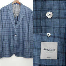 Hardy Amies Peak Lapel Heddon Pure Linen Sport Coat Jacket Sz 44R