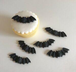 12 Edible Sugarpaste BATS Cupcake Toppers-HALLOWEEN