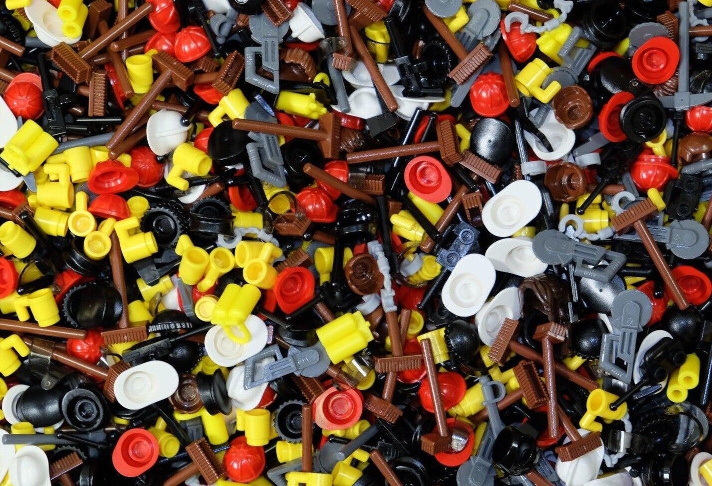 100 Genuine LEGO Minifigura Assortiti Misti NUOVO accessori enorme Mix