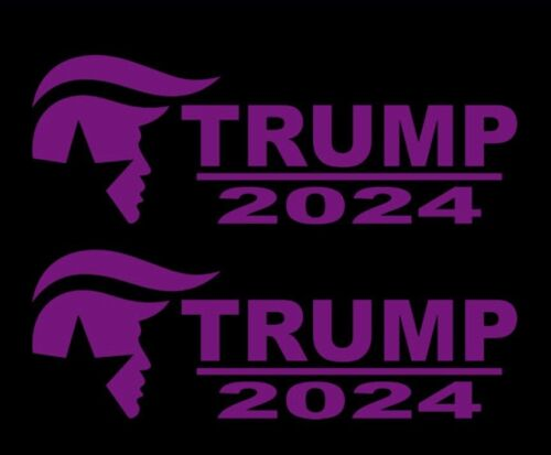 Donald Trump 2024 decal window bumper sticker political pair maga usa america