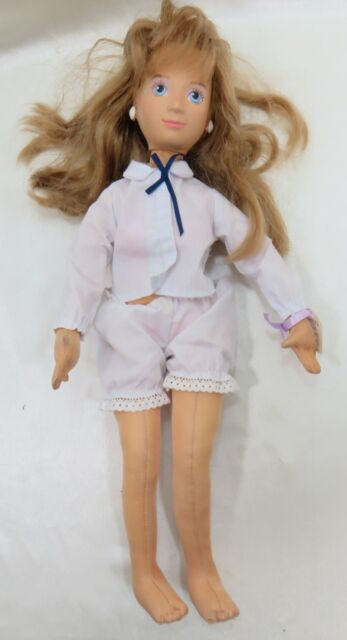 "Mattel Hot Looks 18"" Elki from Sweden Posable Doll Vintage Collectible 1986"