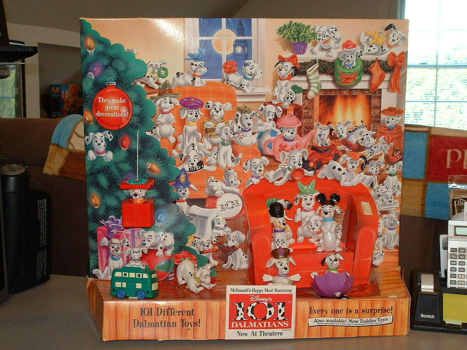 101 Dalmatians McDonalds Happy Meal SUPER RARE IN-STORE DISPLAY Only one on Ebay