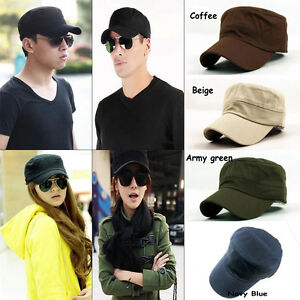 Vintage-Hombre-Mujer-Gorra-Militar-Cadete-Sombrero-Visera-Cap-Ejercito-PAC-ajust