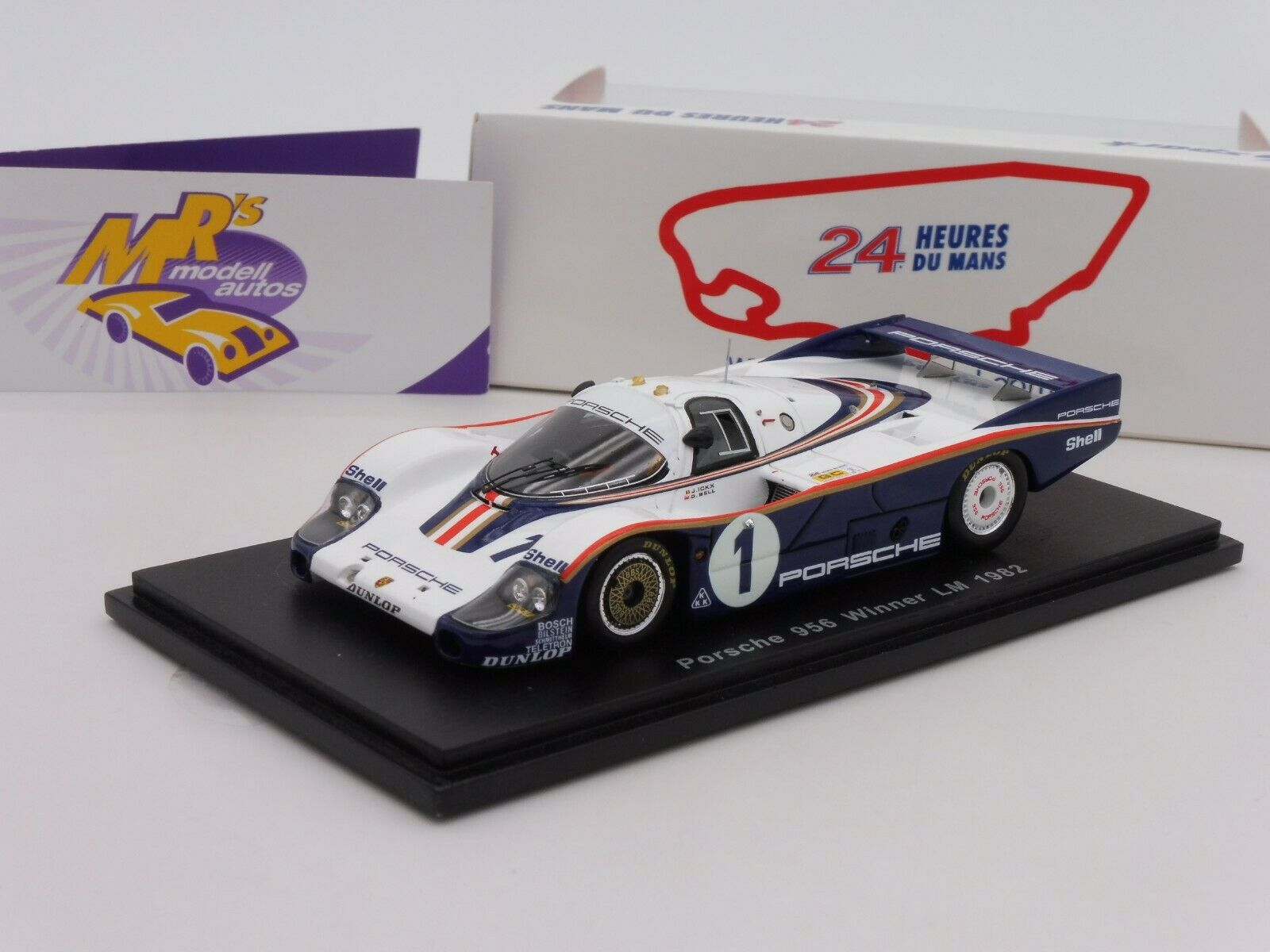 Spark 43LM82 PORSCHE 956 Winner 24h. LE Mans 1982 No. 1 in redhmans Design 1 43