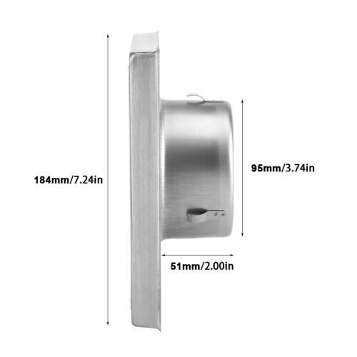 100mm Edelstahl Wandluftöffnung Lüftungsgitter Grill Fan für Klimaanlagen Küchen
