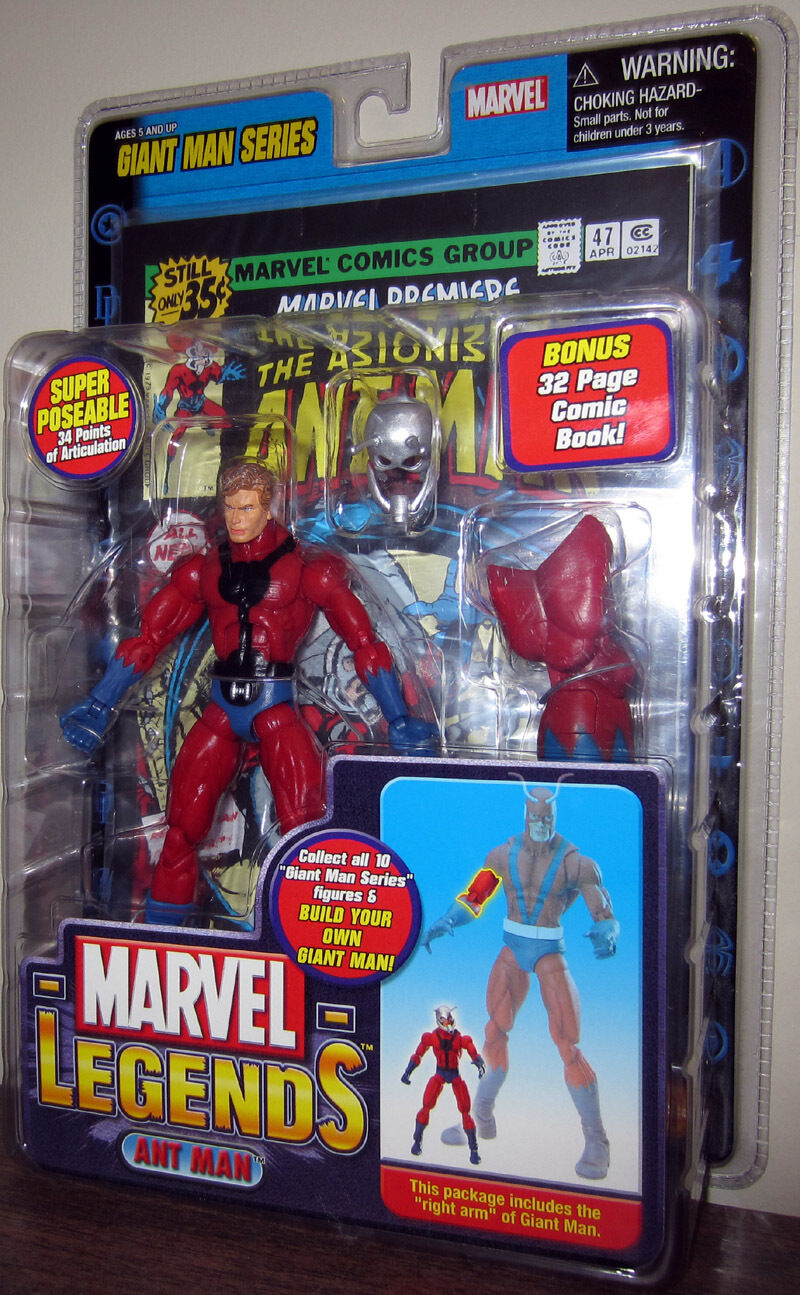 ANT- MAN MARVEL LEGENDS ( GIANT-MAN SERIES ) AVENGERS ACTION FIGURE + COMIC BOOK