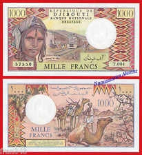 DJIBOUTI 1000 Francs 1991 Pick 37e  SC / UNC