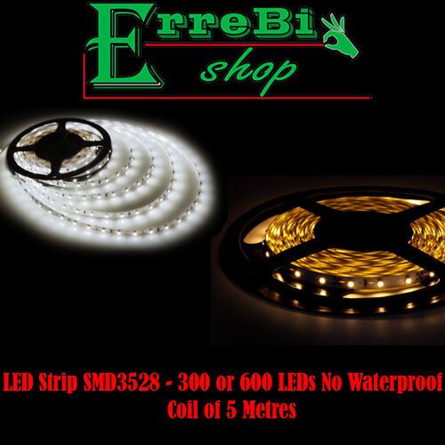 LED STRIP ADHESIVE SMD3528 COIL 5 METRES 300 600 LED 3000K° 4500K° LIGHT V-TAC