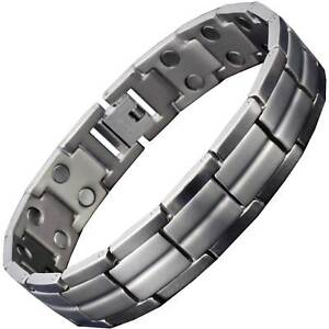 Image Is Loading Mens Anium Magnetic Ion Bracelet Arthritis Balance Bio