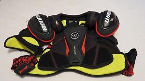 Used-Warrior-Dynasty-Pro-Stock-Hockey-Shoulder-Pads-Size-Medium-Flyers-MeiGray