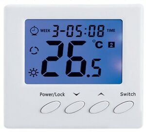 raumthermostat f r fussbodenheizung max 16a wochenprogramm z739 ebay. Black Bedroom Furniture Sets. Home Design Ideas