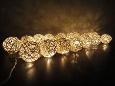 20 LED Takraw Secuencia Luz Decorativa Navidad Cadena Luces Caja De La BateríA