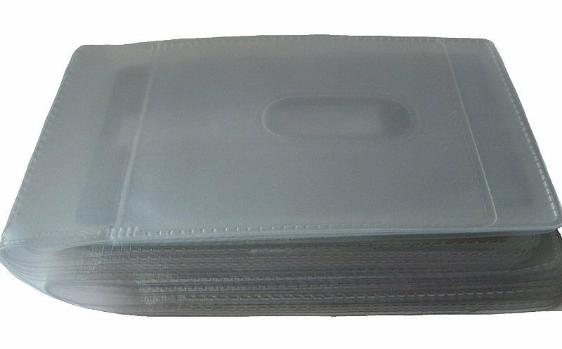 Clear plastic replacement Credit cardholder insert for wallets Holds