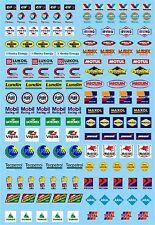 Motorsport Sponsoren Bogen No.12 Elf, Gulf, Mobil ... 1:43 Decal Abziehbilder