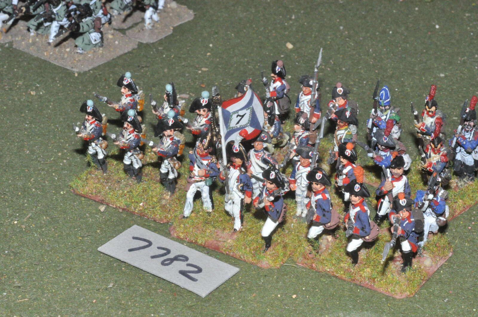 25mm napoleonic   french - revolutionary war infantry 30 figs metal - inf (7782)