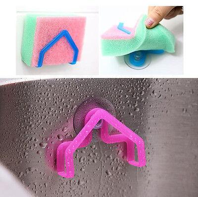 1pc Kitchen Tools Gadget Home Decor Convenient Sponge Holder Suction Cup Sink