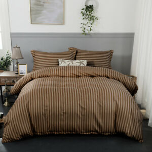 40c87826b7 Duvet Cover Quilt Cover Single Double King Size Pillow Cases Striped ...