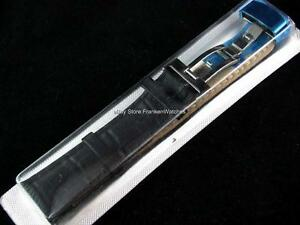 Black-Leather-Band-Strap-Bracelet-Buckle-Clasp-Fits-Tissot-Watch-18mm-20mm-22mm