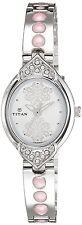 Titan Silver White Regular Watch For Women - 2468SM05