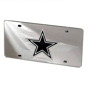 Dallas-Cowboys-Mirrored-Laser-Cut-License-Plate-Laser-Tag