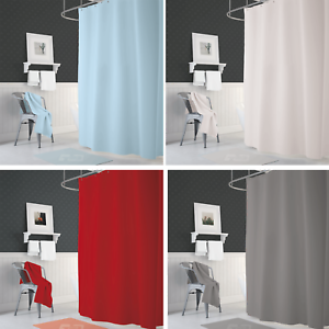 Image Is Loading Narrow Width Bespoke Size Bathroom Fabric Shower Curtain
