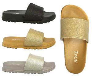 New-Women-Casual-Buckle-Straps-Sandals-Flip-Flop-Platform-Footbed-Shoes