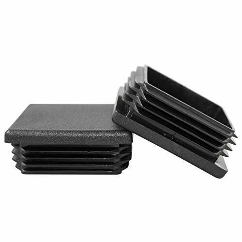 "20 Prescott Plastics 2/"" Square Plastic Plug Heavy Duty Tubing Post End Cap"