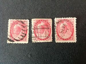 CANADA 1899 QUEEN VICTORIA PROVISIONAL ISSUE STAMPS USED
