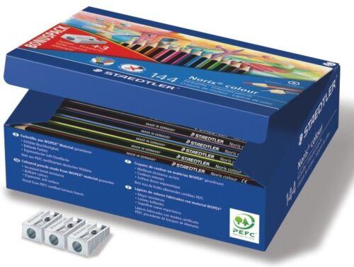 Buntstifte Holzstifte Staedtler Noris Colour 3mm 144er Set Gratis Spitzer