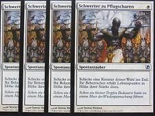 XXX 4x SCHWERTER ZU PFLUGSCHAREN swords to plowshares deutsch EvT (white) NM XXX