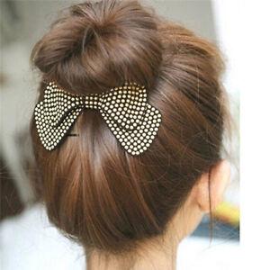 Women-Girls-Hairpin-Hair-Barrettes-Hair-Bow-Clips-Hair-accessories-LJ