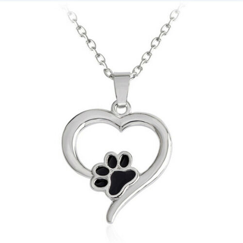 Hollow Pet Paw Print Necklace Cute Animal Dog Cat  Pendant Necklace Jewelry EF