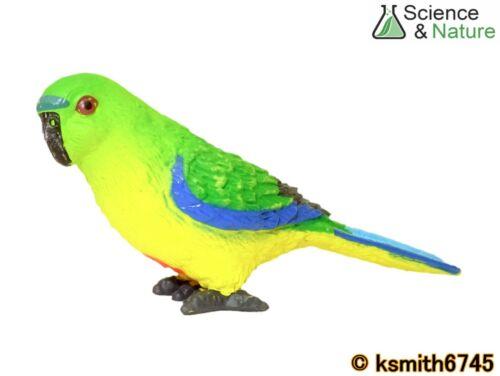 S/&n orange ventre Perroquet Jouet en plastique Wild Zoo Australien Animal Oiseau nouveau