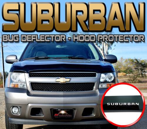 CHEVY SUBURBAN 2007-2014 BUG ROCK DEFLECTOR HOOD WINDSHIELD PROTECTOR with LOGO