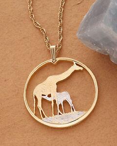 Giraffe-Pendant-and-Necklace-Giraffe-Coin-Hand-Cut-1-1-4-034-in-Dia-883