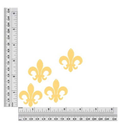 "Made in USA Sequin Fleur De Lis 1.5/"" Gold Lazersheen Reflective Metallic"