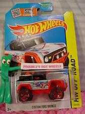 Case P 2015 Hot Wheels CUSTOM FORD BRONCO #121∞Gray/Black;Red or5∞Hot Trucks