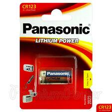 1 x Panasonic Lithium CR123 battery 3V CR123A CR17345 EL123 Camera Photo EXP2026