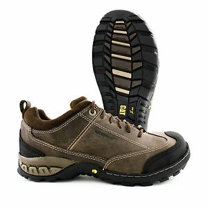 Caterpillar SIdeshift Steel Toe Waterproof Brown Leather Work Shoe ...