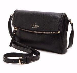 Kate Spade Cobble Hill Mini Carson Crossbody Black Leather Pwru3681