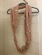 Juicy Couture Light Pink Scarf With Pom Pom