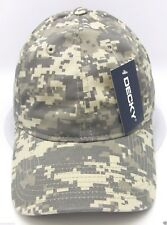 DECKY Mesh Jersey Flex Fit Cap Perforated Dad Hat Curved Visor OSFM Navy NWT