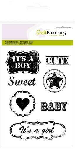 "CraftEmotions Clear Stamp ""Lovely Baby"" A6, Stempel gtransparent"