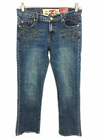 Seven 7 For All Mankind Great China Wall Jeans Studded Bling Womens 31 (29x31)