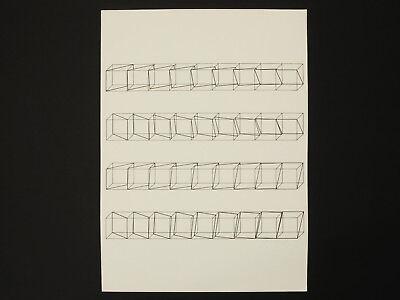 Klaus Müller-domnick - Konkrete Kunst - Siebdruck - 44 / 50 - 1971 - Signiert SchüTtelfrost Und Schmerzen