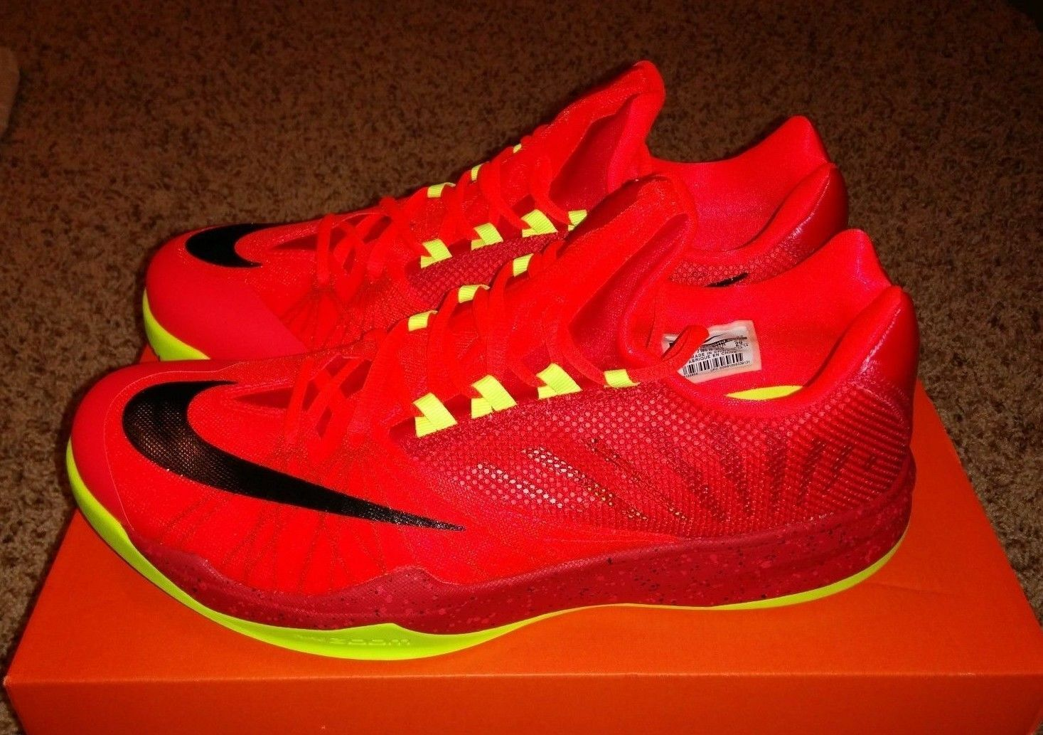 Nike Zoom Run The One James Harden PE Houston Rockets All Red MVP Mens NEW 13