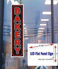 Bakery Led Illuminated Window Sign 48x12 Led Flat Panel Bright Sign