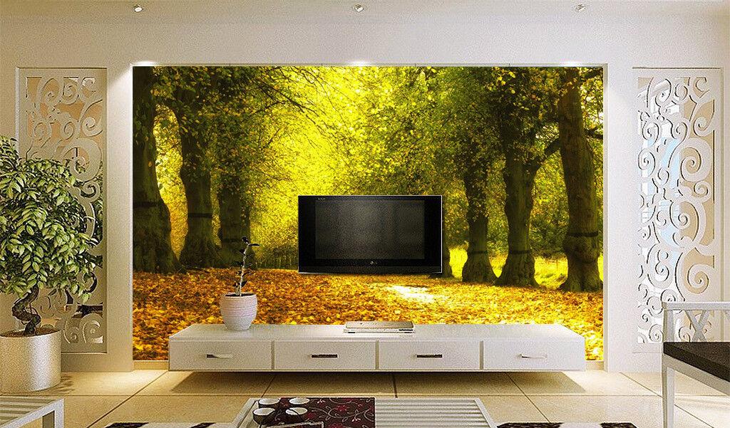 3D Forest Leaf 435 Wallpaper Murals Wall Print Wallpaper Mural AJ WALL UK Summer